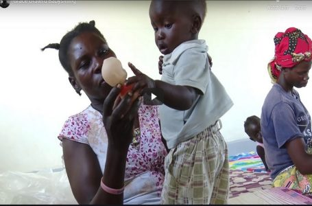 Ugandan Woman enabling Breastfeeding Refugee Mothers to acquire vocational Skills in Bidibidi Refugee settlement